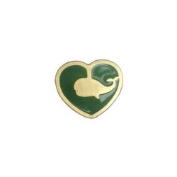 Enamel Heart Shape badge